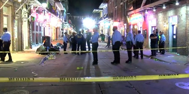 The shooting on New Orlean's famed Bourbon Street set people running for cover in nearby bars and restaurants.