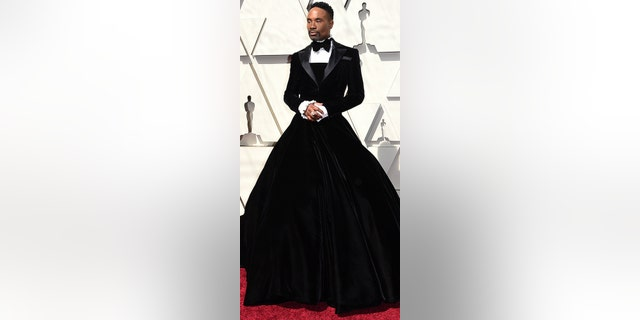 Billy Porter arrives at the Oscars on Sunday, Feb. 24, 2019, at the Dolby Theatre in Los Angeles. (Photo by Richard Shotwell/Invision/AP)