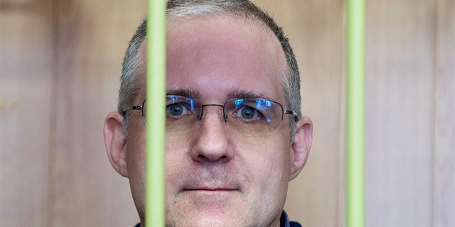 Paul Whelan, a former U.S. Marine, who was arrested in Moscow at the end of last year, attends a hearing in a court in Moscow, Russia, on Friday.