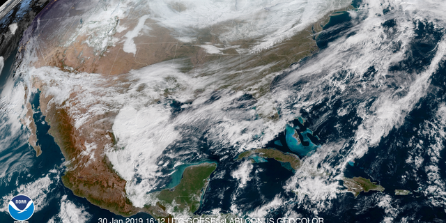 A frigid look at the United States in the midst of the polar vortex in 2019.