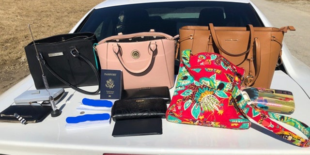 The rental vehicle was found with stolen items in the trunk.