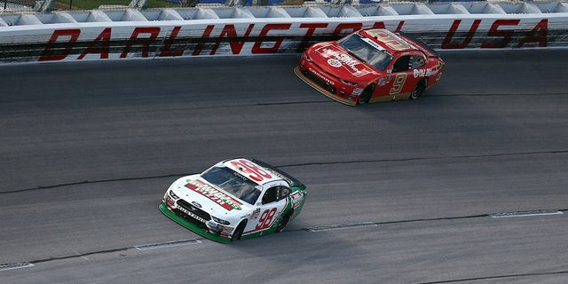 Tyler Reddick drove the Old Milwaukee-sponsored #9 car for JR Motorsports to a third-place finish at the 2018 Darlington Xfinity race.