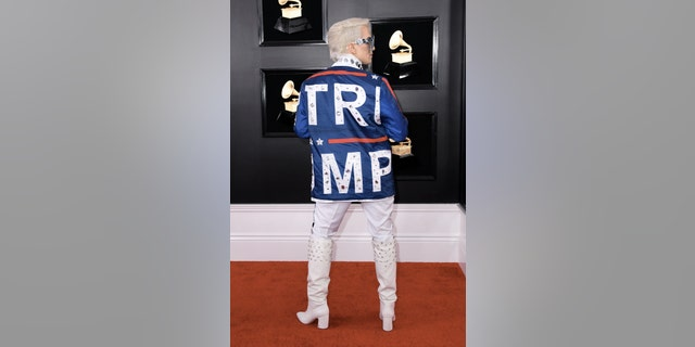 Ricky Rebel arrived for the 61th Annual Grammy Awards on February 10, 2019, in Los Angeles. (Photo by VALERIE MACON / AFP)