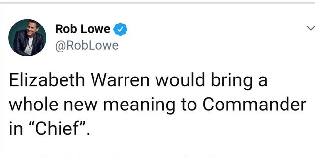 Rob Lowe Funny Rob-lowe-warren-chief-tweet