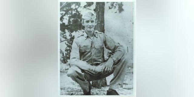 POW Roger Dumas before leaving for North Korea in 1950.<br><br>
