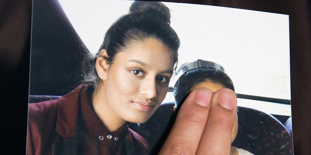 Shamima Begum, pictured left before she headed to Syria. She is now the teen's third child to die after she fled the UK to join up with the terror group.