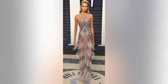 Stella Maxwell attends the 2019 Vanity Fair Oscar Party hosted by Radhika Jones at Wallis Annenberg Center for the Performing Arts on Feb. 24, 2019 in Beverly Hills, Calif. (Photo by Jon Kopaloff/WireImage)