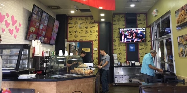 Molero owns the Super Arepa Doral in Doral, Florida. Venezuelan expats are now asking why demonstrators would protest Trump's speech Monday when the situation back home is in such disarray