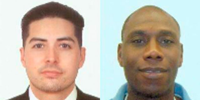These photos provided by the Chambers County Sheriff's Office shows Sean Archuleta and Conrad Aska.