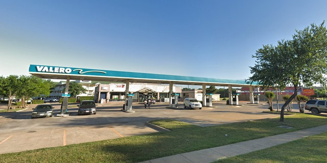 The shooting took place early Friday at the Valero gas station in Lewsville, Texas, located northwest of Dallas.
