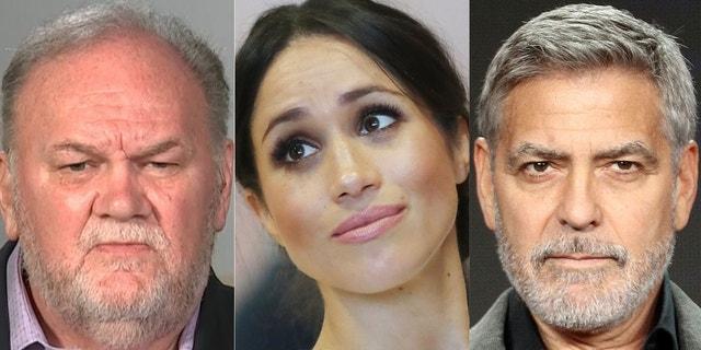 Thomas Markle, Meghan Markle and George Clooney