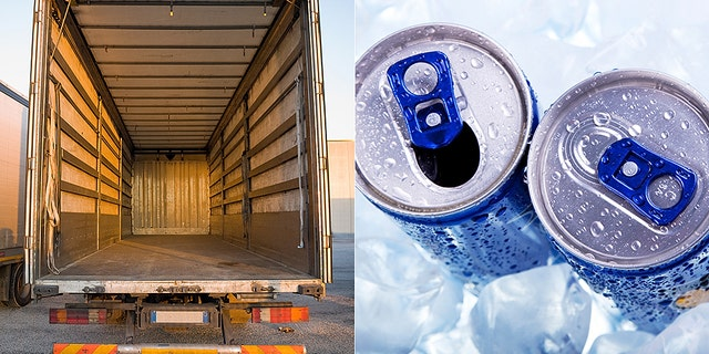 The FBI is searching for a stolen trailer filled with energy drinks.