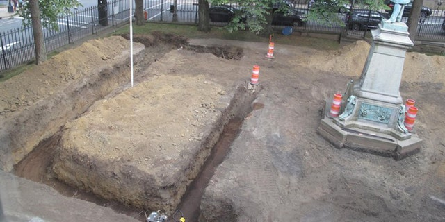 The vault was discovered during a major project to renovate the gardens of Province House in Halifax, Nova Scotia.