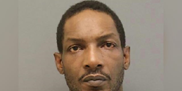 Antonio Smallwoodwas allegedly projecting pornographic material on his garage door when police arrived.
