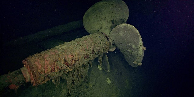 A propeller at the Hiei wreck. (RV Petrel)