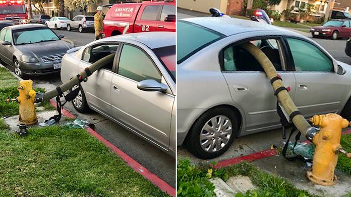 California fire department reminds you not to park in front of hydrants