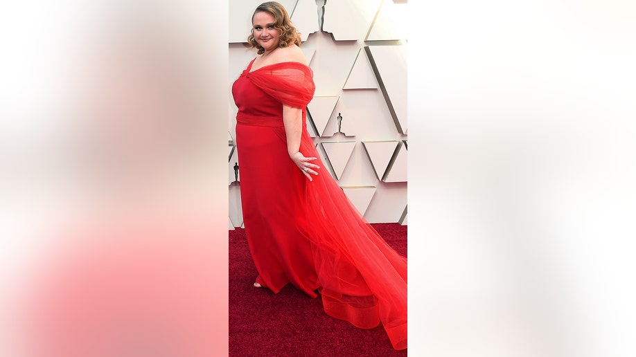 Danielle Macdonald arrives at the Oscars on Sunday, Feb. 24, 2019, at the Dolby Theatre in Los Angeles. (Photo by Jordan Strauss/Invision/AP)