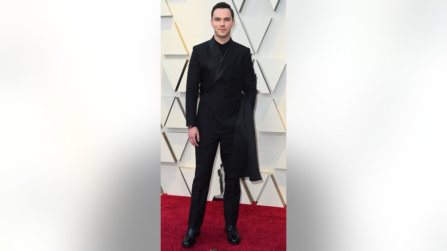 Nicholas Hoult arrives at the Oscars on Sunday, Feb. 24, 2019, at the Dolby Theatre in Los Angeles. (Photo by Jordan Strauss/Invision/AP)