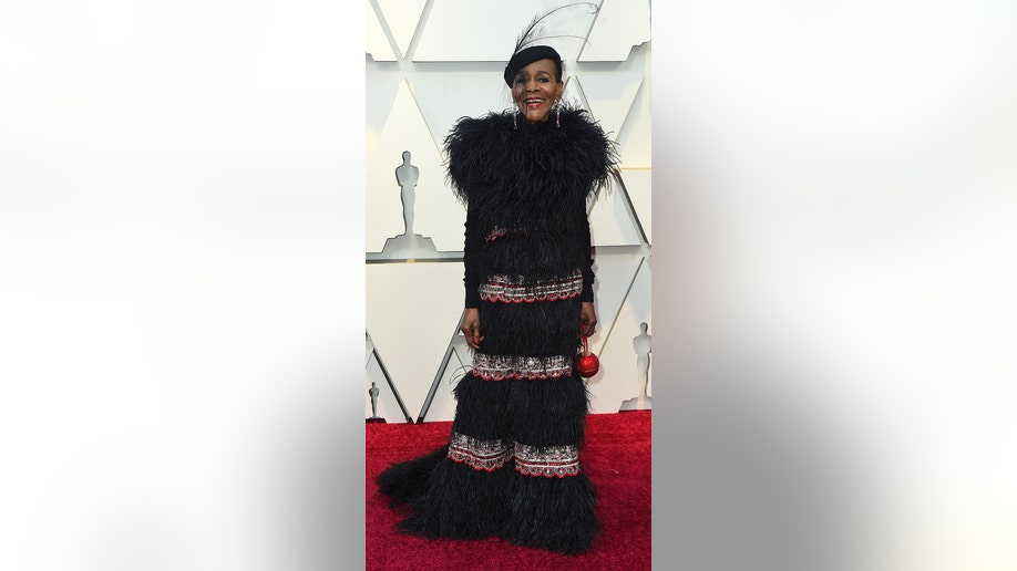 Cicely Tyson arrives at the Oscars on Sunday, Feb. 24, 2019, at the Dolby Theatre in Los Angeles. (Photo by Jordan Strauss/Invision/AP)