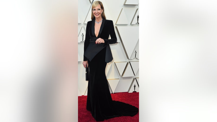 Allison Janney arrives at the Oscars on Sunday, Feb. 24, 2019, at the Dolby Theatre in Los Angeles. (Photo by Jordan Strauss/Invision/AP)
