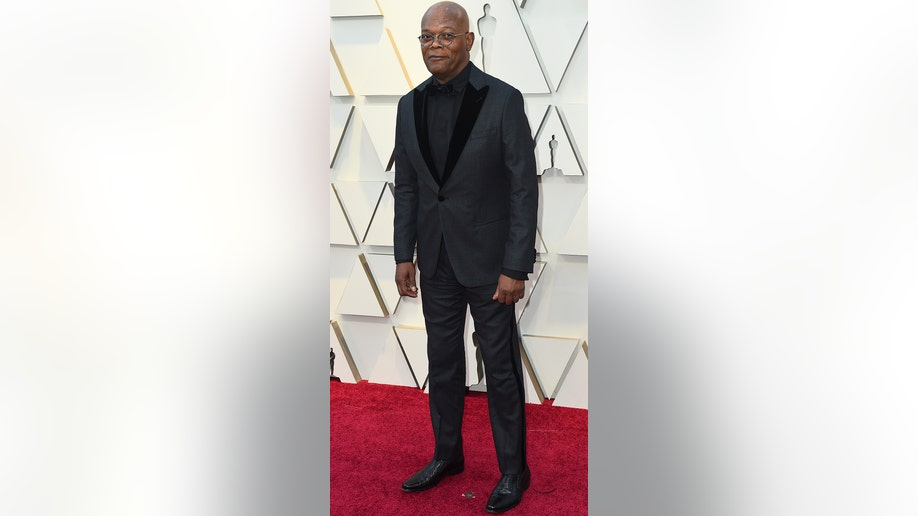 Samuel L. Jackson arrives at the Oscars on Sunday, Feb. 24, 2019, at the Dolby Theatre in Los Angeles. (Photo by Jordan Strauss/Invision/AP)