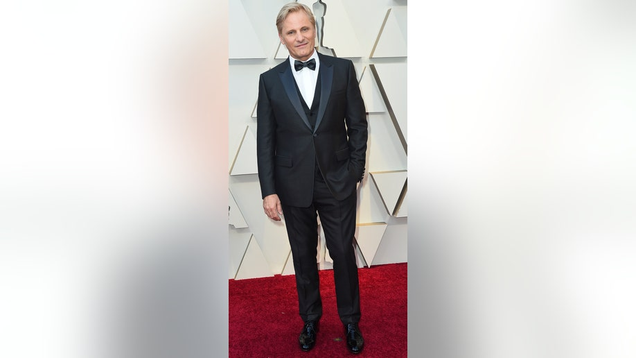 Viggo Mortensen arrives at the Oscars on Sunday, Feb. 24, 2019, at the Dolby Theatre in Los Angeles. (Photo by Jordan Strauss/Invision/AP)