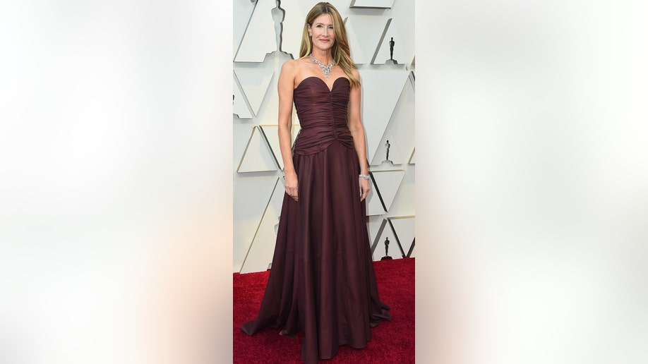Laura Dern arrives at the Oscars on Sunday, Feb. 24, 2019, at the Dolby Theatre in Los Angeles. (Photo by Jordan Strauss/Invision/AP)