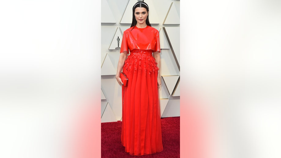 Rachel Weisz arrives at the Oscars on Sunday, Feb. 24, 2019, at the Dolby Theatre in Los Angeles. (Photo by Jordan Strauss/Invision/AP)