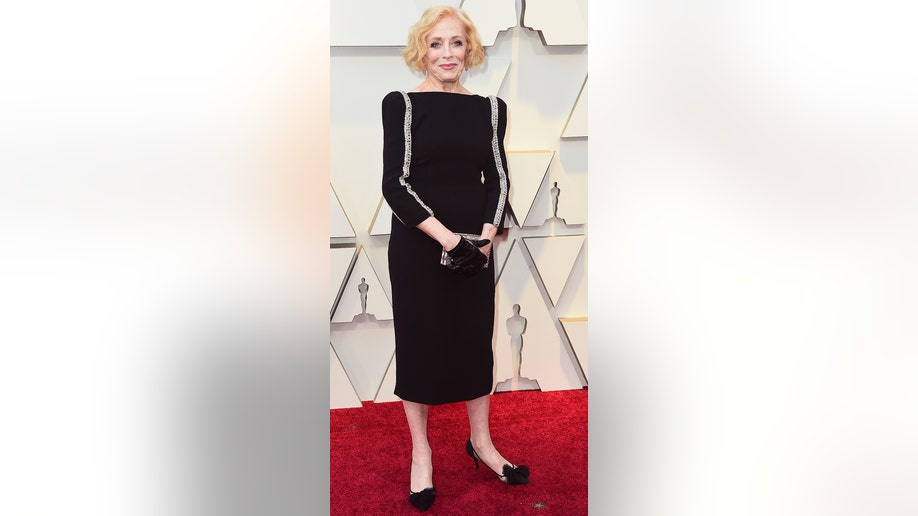 Holland Taylor arrives at the Oscars on Sunday, Feb. 24, 2019, at the Dolby Theatre in Los Angeles. (Photo by Jordan Strauss/Invision/AP)