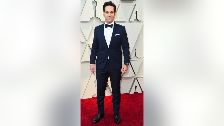Paul Rudd arrives at the Oscars on Sunday, Feb. 24, 2019, at the Dolby Theatre in Los Angeles. (Photo by Jordan Strauss/Invision/AP)