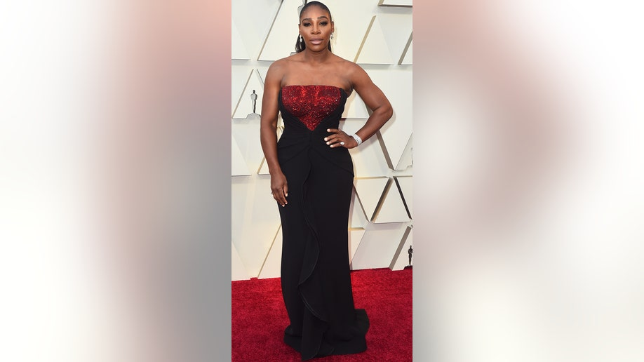 Serena Williams arrives at the Oscars on Sunday, Feb. 24, 2019, at the Dolby Theatre in Los Angeles. (Photo by Jordan Strauss/Invision/AP)