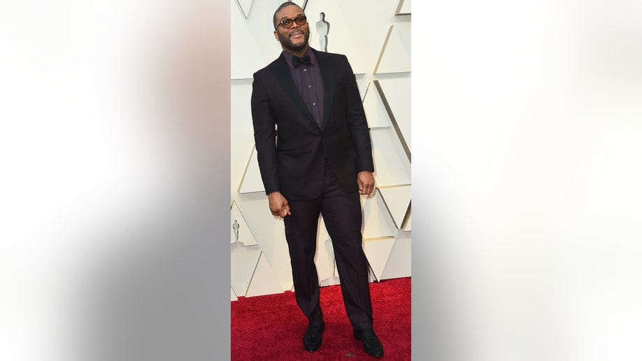 Tyler Perry arrives at the Oscars on Sunday, Feb. 24, 2019, at the Dolby Theatre in Los Angeles. (Photo by Jordan Strauss/Invision/AP)