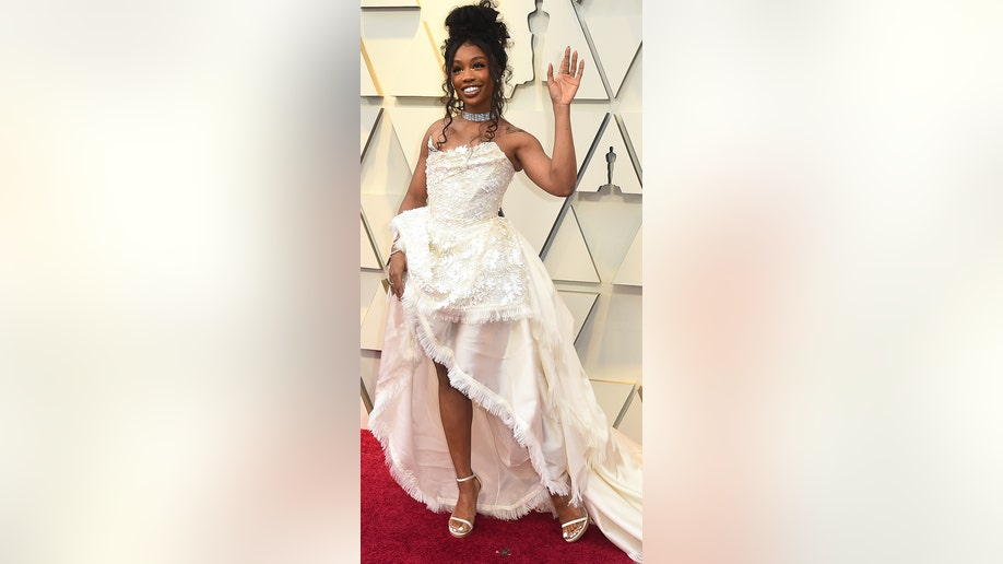SZA arrives at the Oscars on Sunday, Feb. 24, 2019, at the Dolby Theatre in Los Angeles. (Photo by Jordan Strauss/Invision/AP)