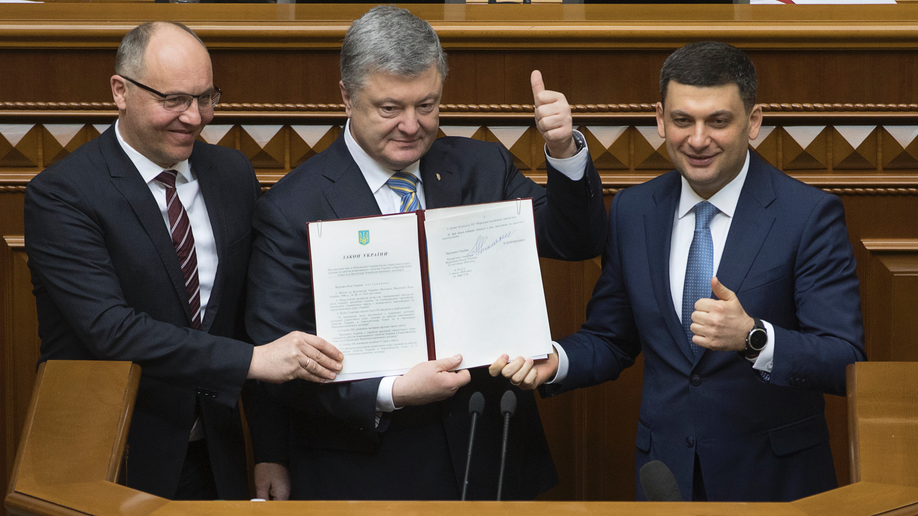 Ukraine president signs amendment on NATO, EU membership