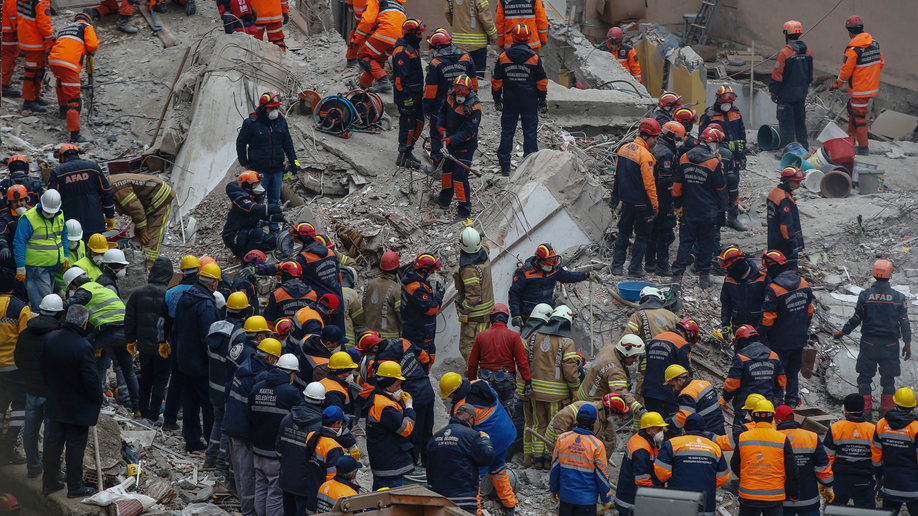 Turkey's president visits Istanbul building collapse site