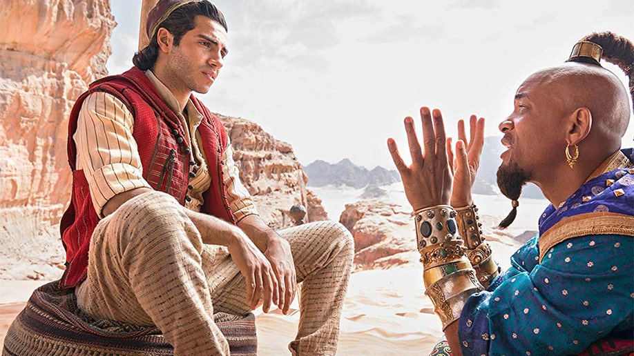 See the first look at Will Smith's blue Genie in Aladdin trailer