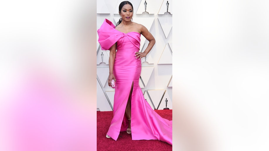 Angela Bassett arrives at the Oscars on Sunday, Feb. 24, 2019, at the Dolby Theatre in Los Angeles. (Photo by Richard Shotwell/Invision/AP)