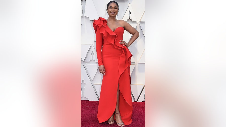 Jennifer Hudson arrives at the Oscars on Sunday, Feb. 24, 2019, at the Dolby Theatre in Los Angeles. (Photo by Richard Shotwell/Invision/AP)