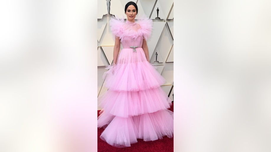 Kacey Musgraves arrives at the Oscars on Sunday, Feb. 24, 2019, at the Dolby Theatre in Los Angeles. (Photo by Jordan Strauss/Invision/AP)