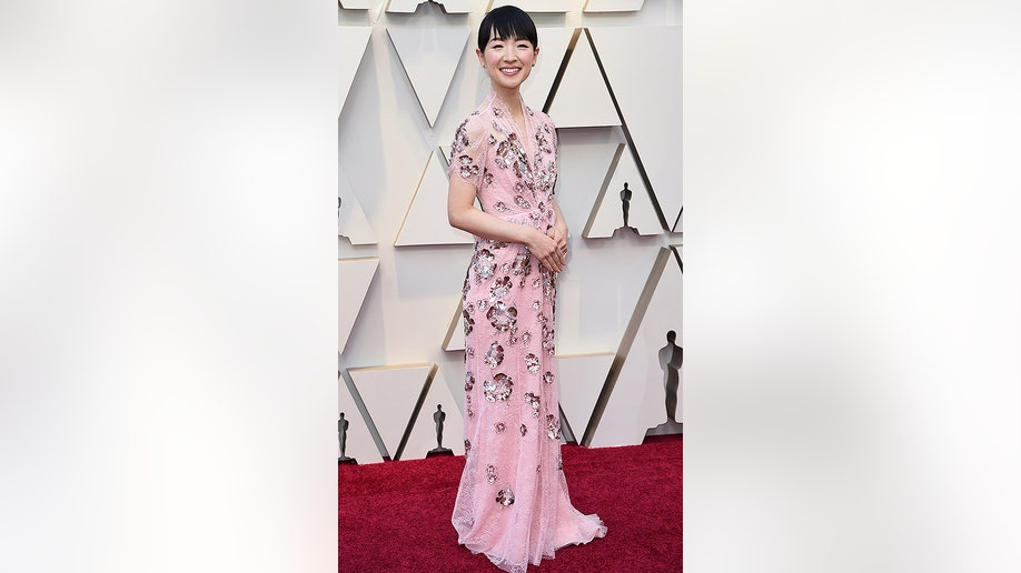 Marie Kondo arrives at the Oscars on Sunday, Feb. 24, 2019, at the Dolby Theatre in Los Angeles. (Photo by Richard Shotwell/Invision/AP)