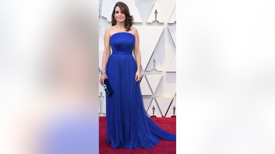 Tina Fey arrives at the Oscars on Sunday, Feb. 24, 2019, at the Dolby Theatre in Los Angeles. (Photo by Richard Shotwell/Invision/AP)