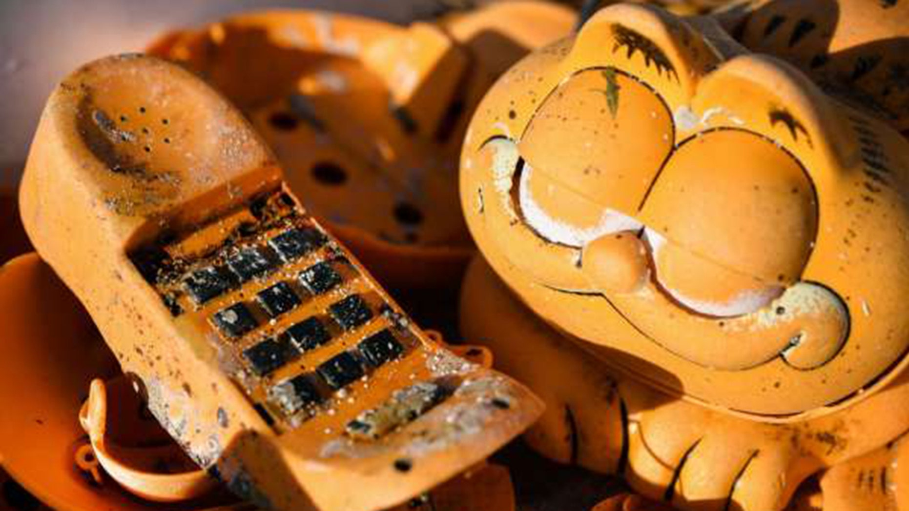 The Mystery of Plastic Garfield Telephones Washing Up on French Beaches