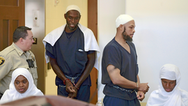 The Latest: 5 suspects plead not guilty to terror counts