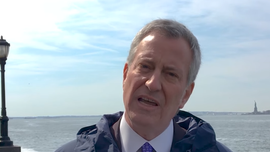 Bill de Blasio, pitching $10B climate change plan, blames global warming for Hurricane Sandy