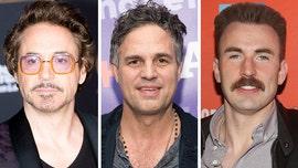 Robert Downey Jr. challenges 'Avengers' co-stars in mustache contest