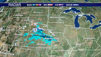 Scattered rain, snow hit Central Plains; major flooding continues across Missouri, Mississippi River basins