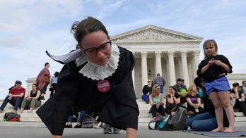 Ruth Bader Ginsburg's supporters ring in her birthday by exercising outside Supreme Court