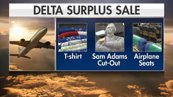 Delta garage sale attracts aviation superfans hoping to buy plane parts, clothing, cutlery