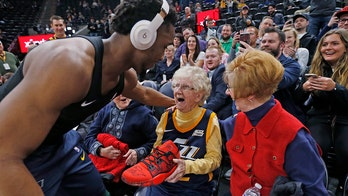 Utah Jazz star Donovan Mitchell gifts autographed shoes to 102-year-old superfan