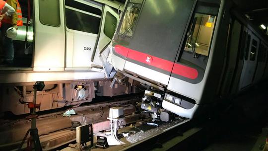 Hong Kong subway partly suspended after overnight crash